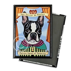 MP-160  Magnet 4-pack - Boston Terrier Saint
