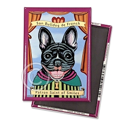 MP-171  Magnet 4-pack - Frenchie Saint (Black)