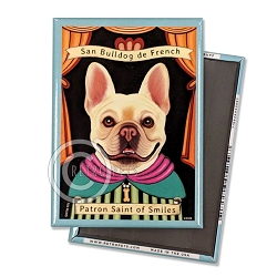 MP-250  Magnet 4-pack - Frenchie Saint (Buff)
