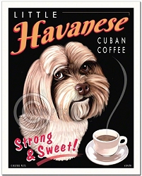 C-121 - 8x10 Art Print - Little Havanese Cuban Coffee