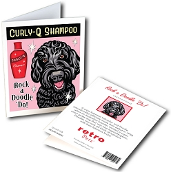 GCHP-138 Greeting Card 6-Pack - Rock a Doodle 'Do!  Black Labradoodle