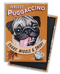 MC-102  Magnet 4-pack - Puggaccino
