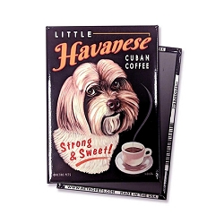 MC-121  Magnet 4-pack - Little Havanese Cuban Coffee