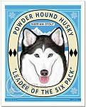 B-120 - 8x10 Art Print - Powder Hound Husky