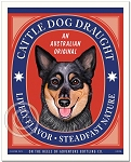 B-126 - 8x10 Art Print - Cattle Dog Draught