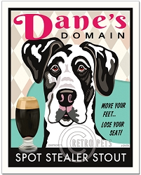 B-130 - 8x10 Art Print - Dane's Domain - Harlequin Dane