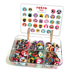 290 Buttons (29 designs, 10-pack of each)
