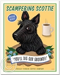 C-108 - 8x10 Art Print - Scampering Scottie