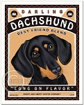 C-109 - 8x10 Art Print - Dachshund Coffee
