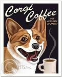 C-113 - 8x10 Art Print - Corgi Coffee