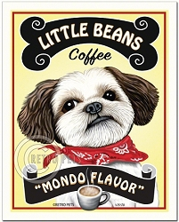 C-118 - 8x10 Art Print - Little Beans Coffee