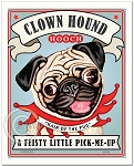 CH-102 - 8x10 Art Print - Clown Hound Pug