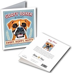 GCB-121  Greeting Card 6-Pack - Goofy Boxer