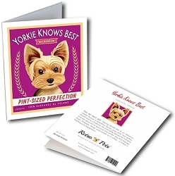 GCB-122  Greeting Card 6-Pack - Yorkie Knows Best