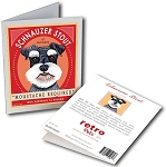 GCB-123  Greeting Card 6-Pack - Schnauzer Stout