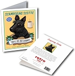 GCC-108  Greeting Card 6-Pack - Scampering Scottie