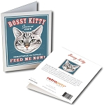 GCF-102  Greeting Card 6-Pack - Bossy Kitty