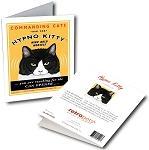 GCF-103  Greeting Card 6-Pack - Hypno Kitty