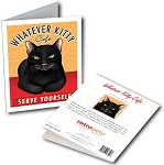 GCF-107  Greeting Card 6-Pack - Whatever Kitty