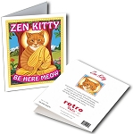 GCF-108  Greeting Card 6-Pack - Zen Kitty