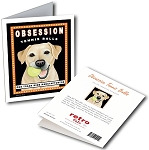 GCHP-107  Greeting Card 6-Pack - Obsession Yellow Lab
