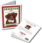GCHP-110  Greeting Card 6-Pack - Obsession Chocolate Lab