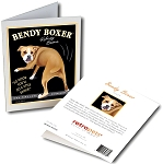 GCHP-128  Greeting Card 6-Pack - Bendy Boxer