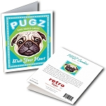 GCHP-129  Greeting Card 6-Pack - PUGZ Candy