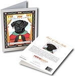 GCP-111  Greeting Card 6-Pack - Black Lab Saint
