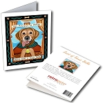 GCP-114  Greeting Card 6-Pack - Golden Retriever Saint