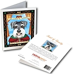 GCP-123  Greeting Card 6-Pack - Schnauzer Saint