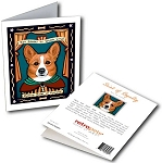 GCP-153  Greeting Card 6-Pack - Corgi Saint