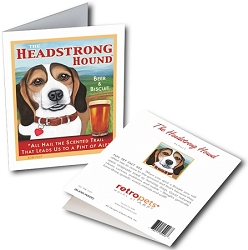 GCPB-107  Greeting Card 6-Pack - Headstrong Beagle