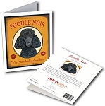 GCW-101  Greeting Card 6-Pack - Poodle Noir