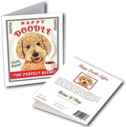 GCC-119 Greeting Card 6-Pack - Happy Doodle Coffee