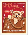 HP-105 - 8x10 Art Print - Yorkie in a Bag
