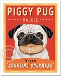 HP-106 - 8x10 Art Print - Piggy Pug Bagels