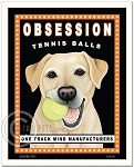 HP-107 - 8x10 Art Print - Obsession Tennis, Yellow