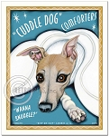 HP-108 - 8x10 Art Print - Cuddle Dog