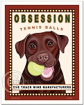 HP-110 - 8x10 Art Print - Obsession Tennis, Chocolate