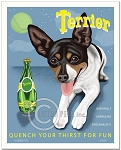 HP-117 - 8x10 Art Print - Perrier Spoof - Rat Terrier