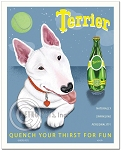 HP-118 - 8x10 Art Print - Perrier Spoof - Bull Terrier