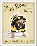 HP-122 - 8x10 Art Print - Pug Love Honey