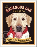 HP-124 - 8x10 Art Print - Ravenous Lab, Yellow
