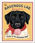 HP-125 - 8x10 Art Print - Ravenous Lab, Black