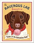 HP-126 - 8x10 Art Print - Ravenous Lab, Chocolate