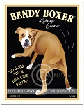 HP-128 - 8x10 Art Print - Bendy Boxer