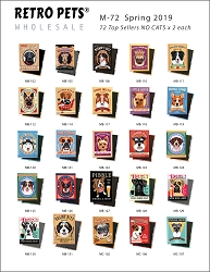 M-72 Refill NO CATS - 144 Magnets - 72 Designs x 2 each