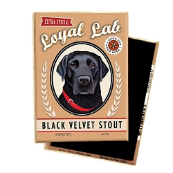 MB-102  Magnet 4-pack - Black Velvet Stout