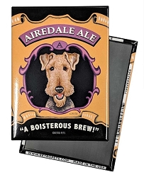 MB-105  Magnet 4-pack - Airedale Ale